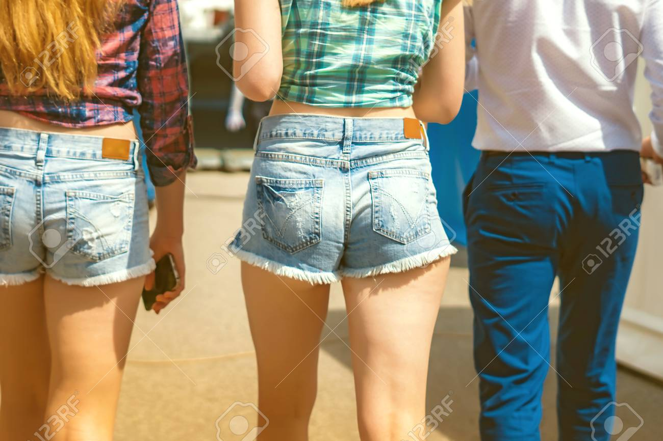 A Young Woman Is In Short Shorts Big Ass Stock Photo 103410540