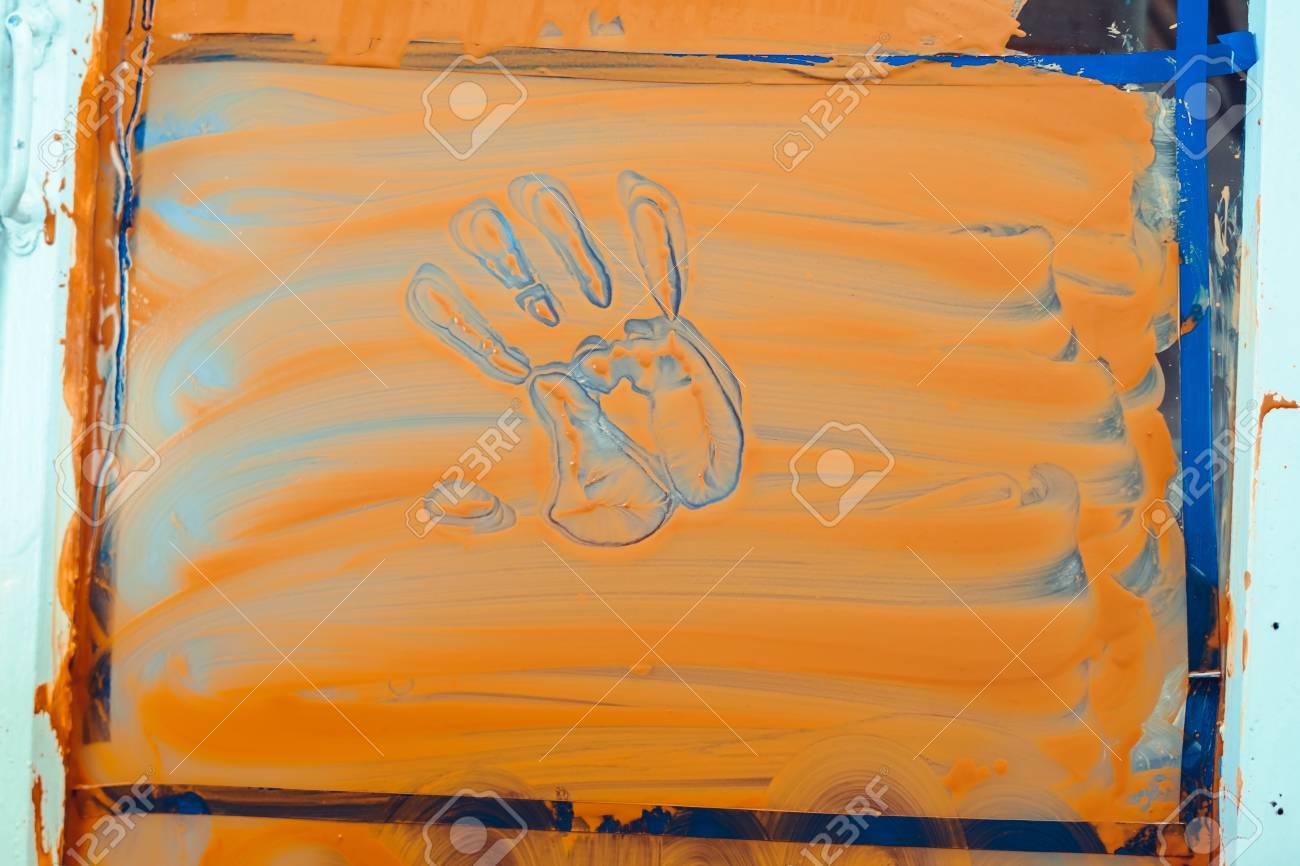 Abstract Handprint Art