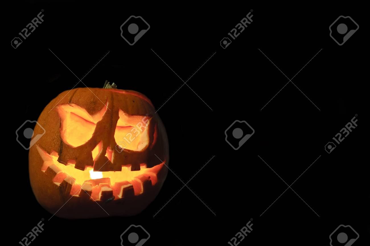 Pumpkin carved spooky funny face cartoon stock vector royalty