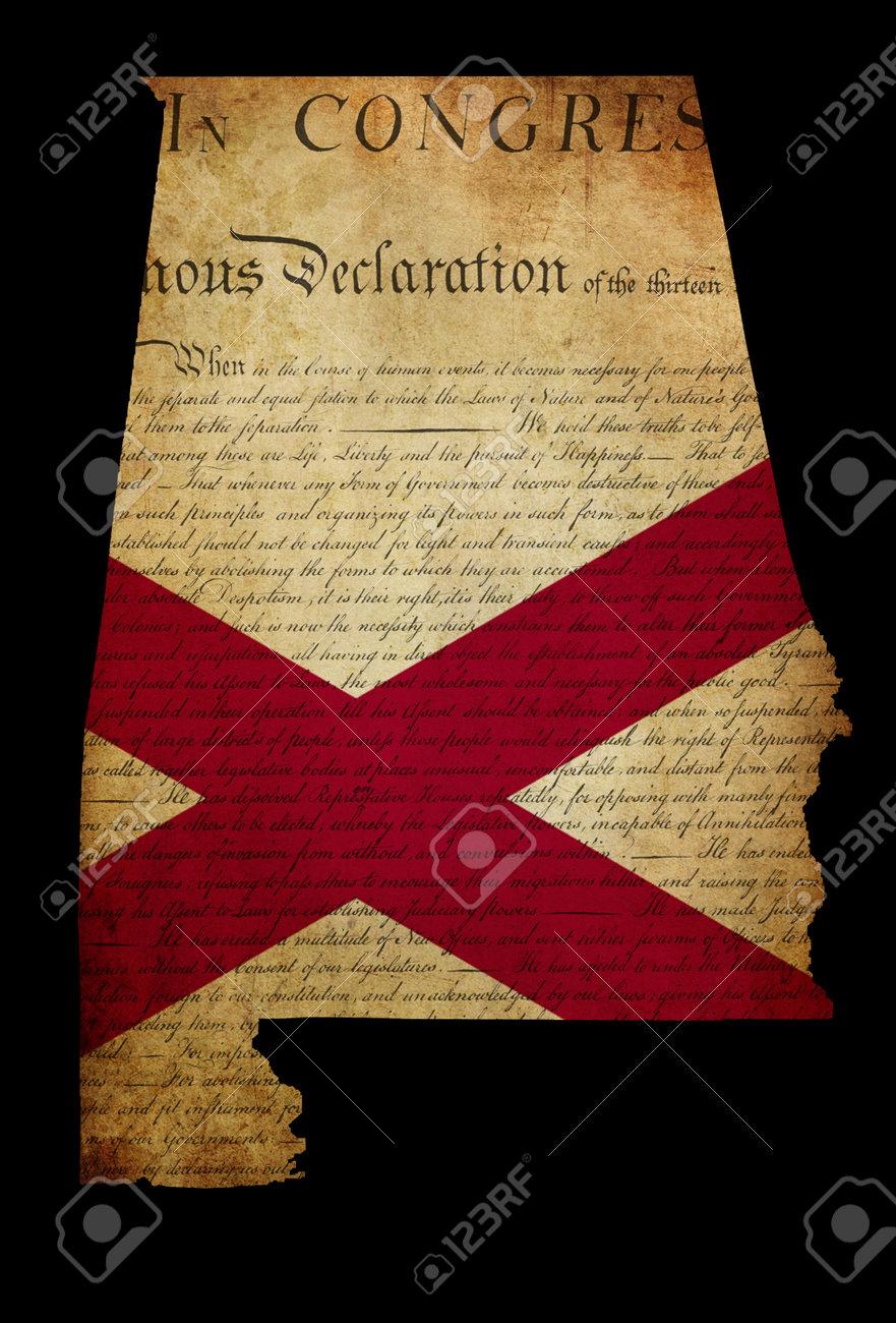 Resumen Del Estado De Alabama EE.UU. De América, Con Inserción Del ...