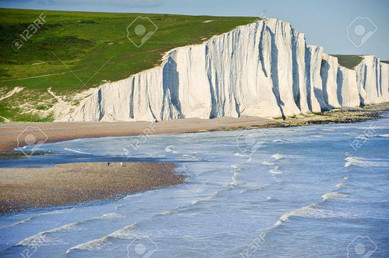 Landscape of Seven Sisters cliffs in South Downs National Park on English coast Stock Photo - 14358122