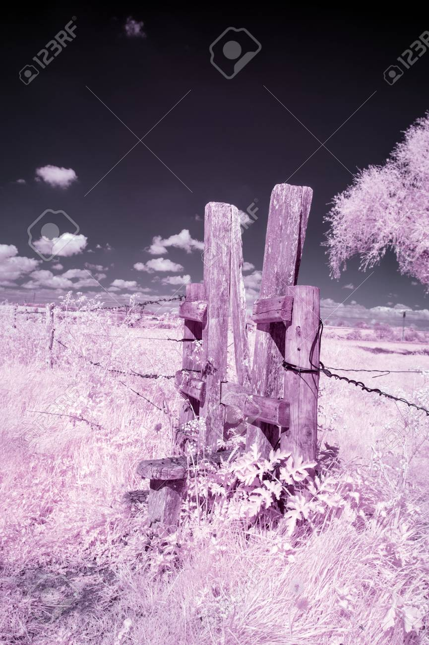 Surreal Alternative Colour Infrared English Countryside Landscape ...