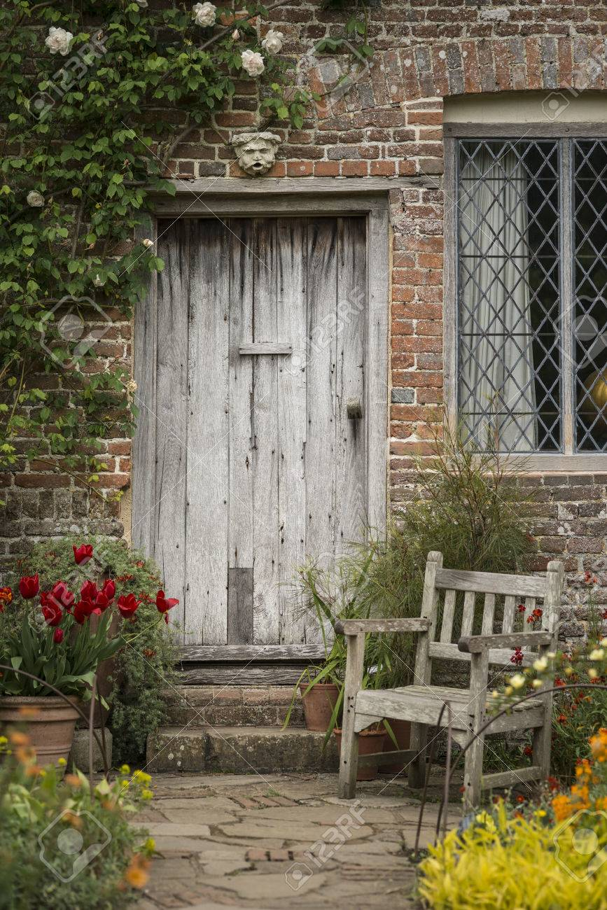 Beautiful Quintessential Old English Country Garden Image Of Stock