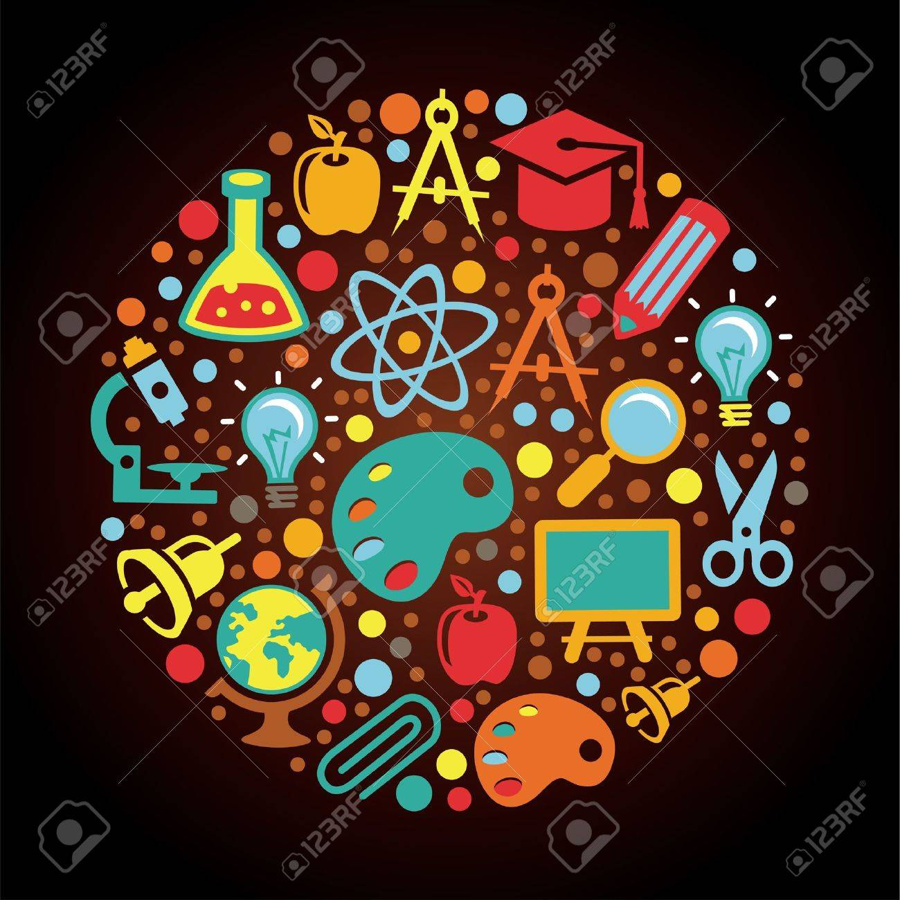 Radial Back to school concept Stock Vector - 15803251