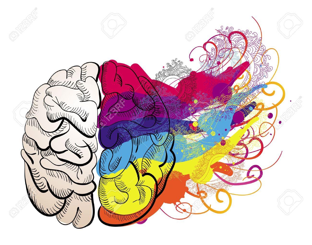 Creative Mind Vector Creativity Concept Brain Illustration