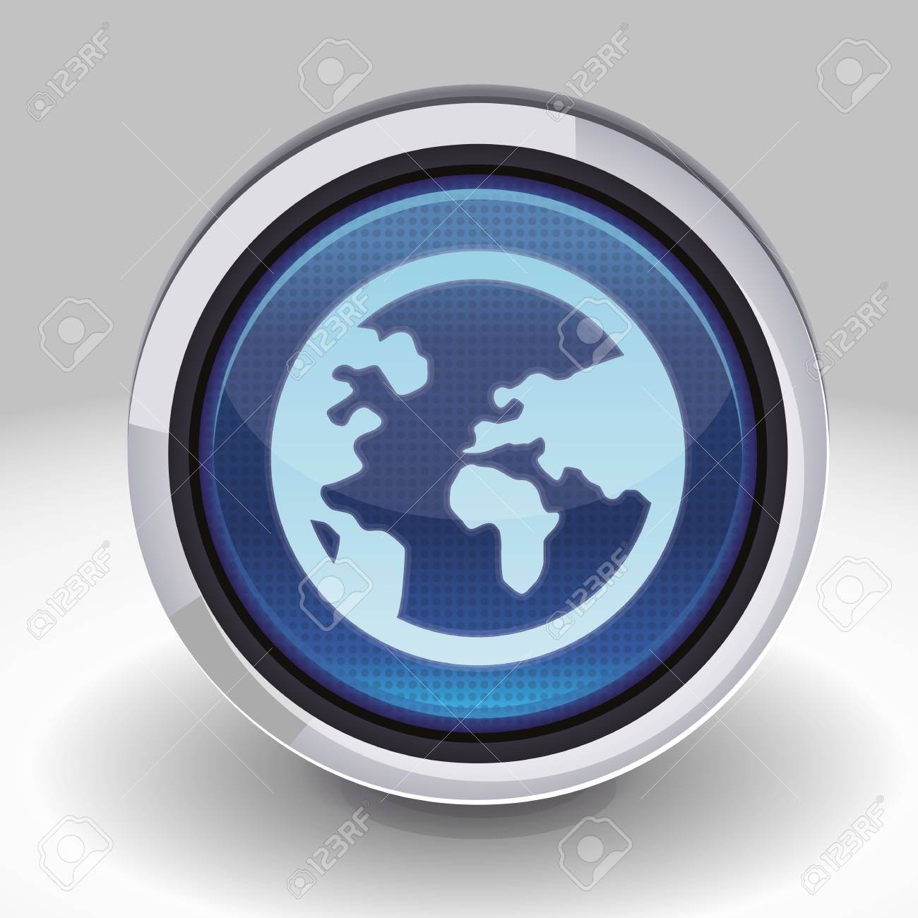 button with internet icon - blue design element Stock Vector - 16170687