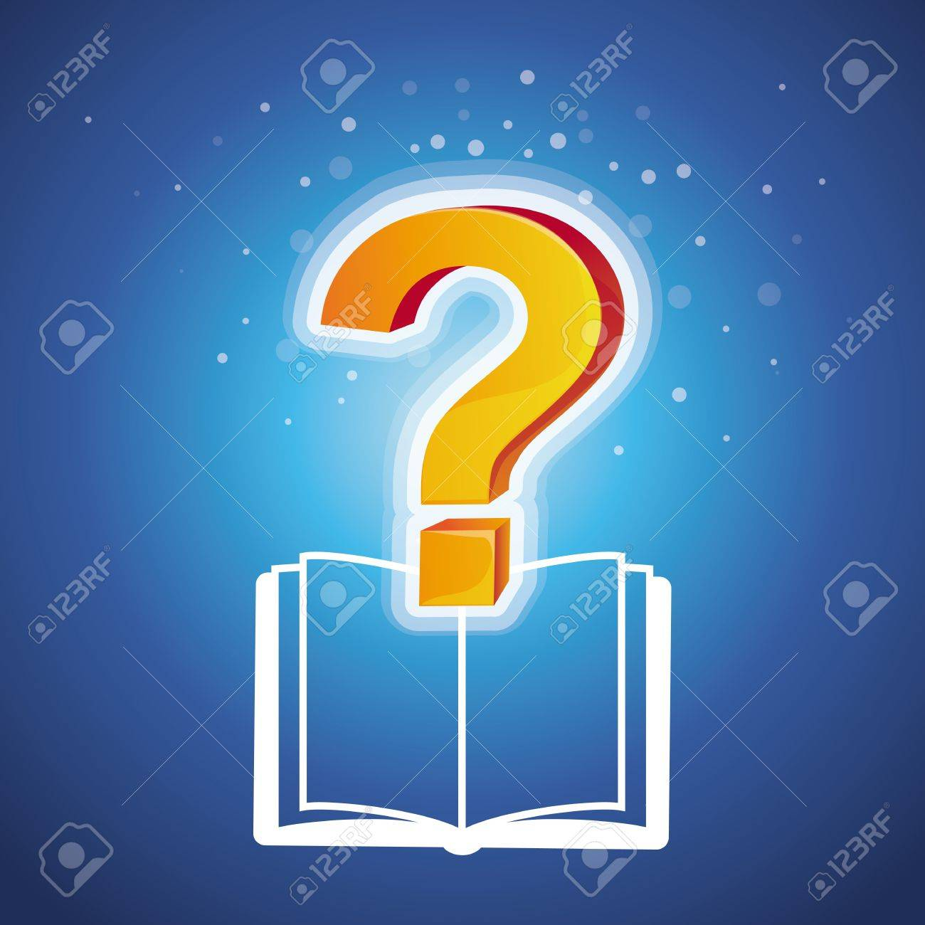 education concept with book icon and question mark Stock Vector - 17718523