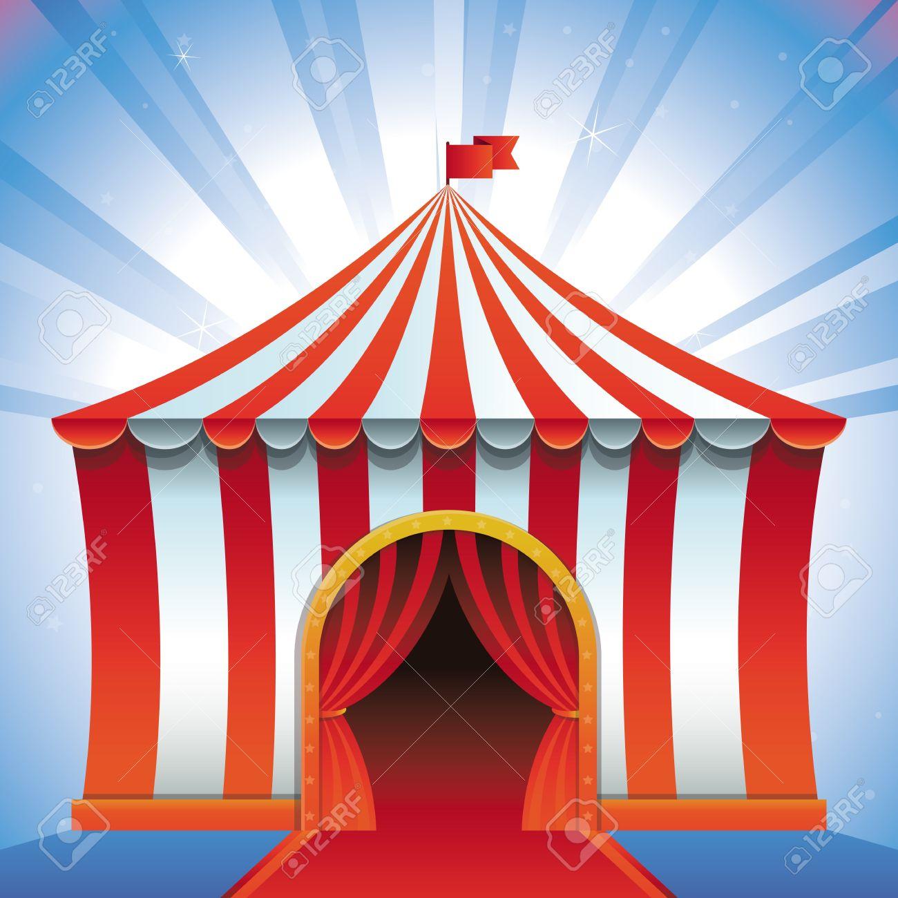 circus tent - bright icon - entertainment concept - 19375074