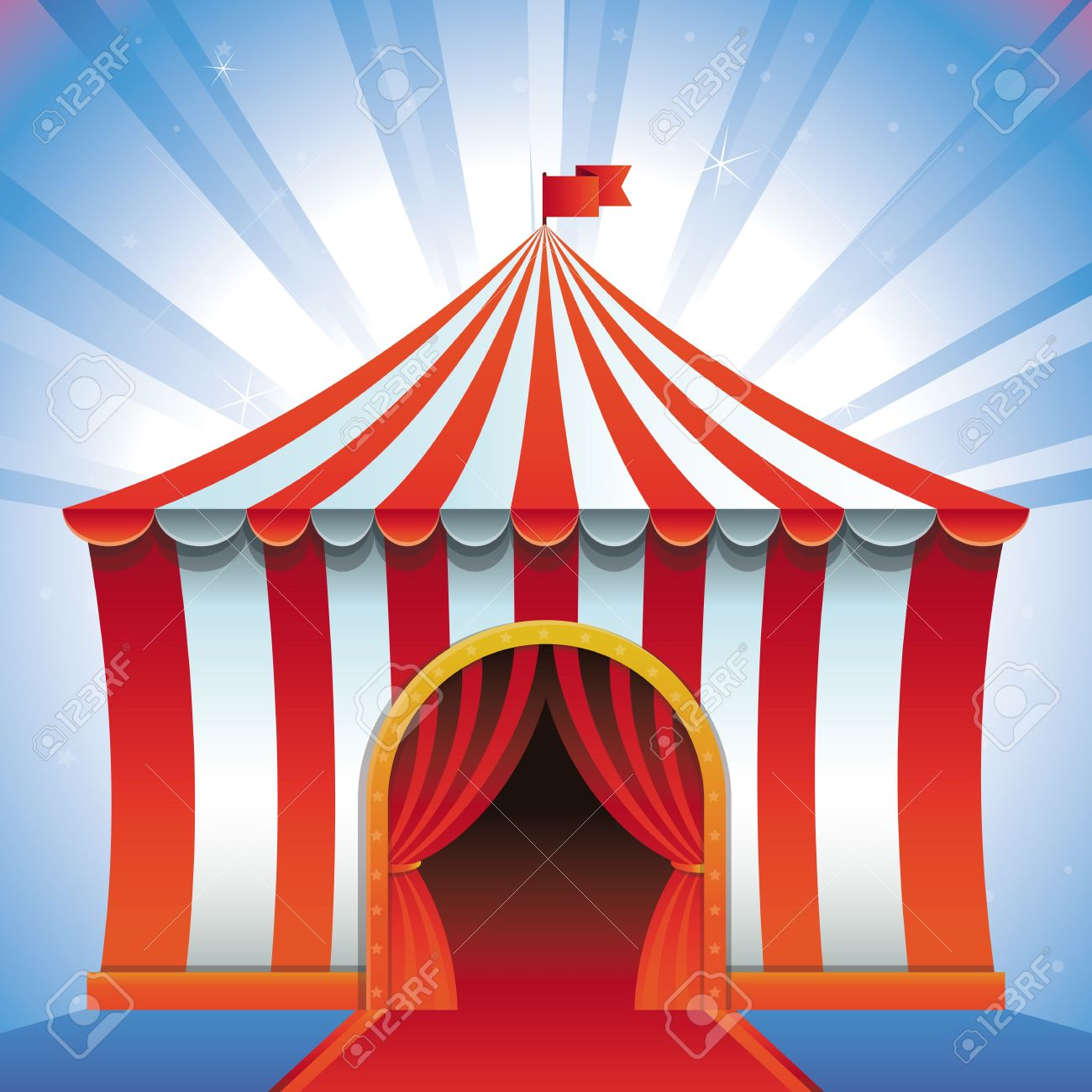 circus tent - bright icon - entertainment concept Stock Vector - 19375074 & Circus Tent - Bright Icon - Entertainment Concept Royalty Free ...