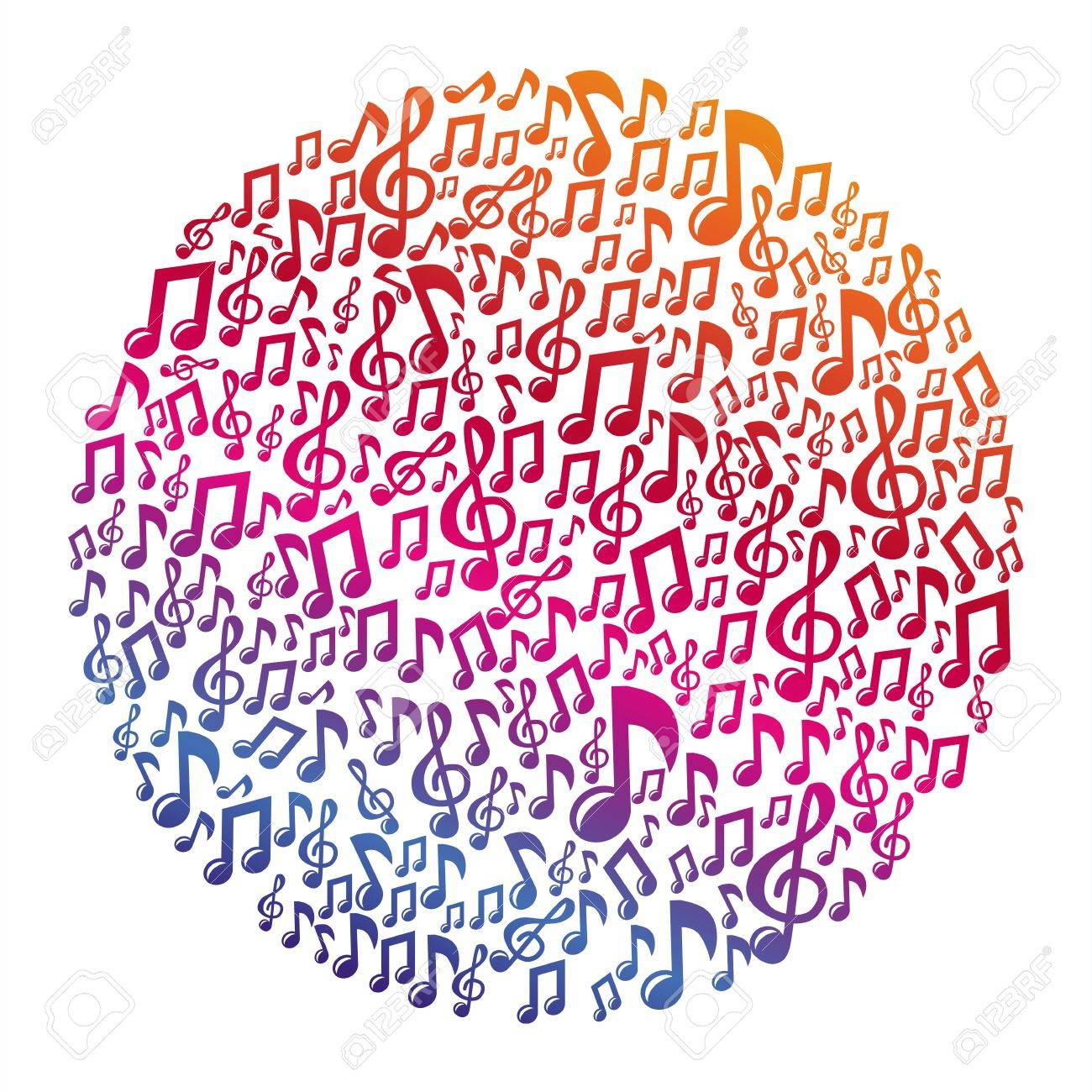 Music concept - musical notes - abstract background Stock Vector - 20331764