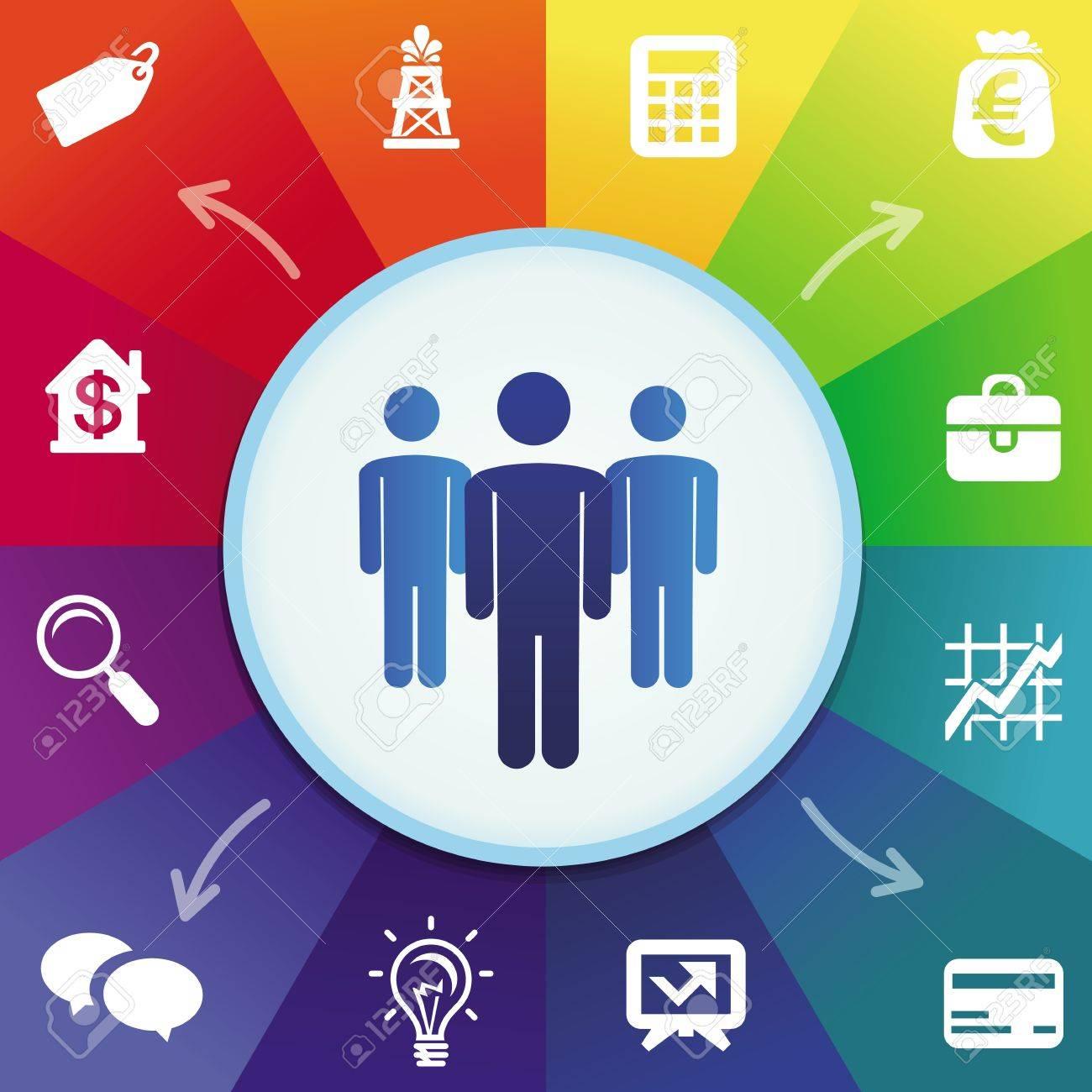 Vector business concept - men icons Stock Vector - 21316878