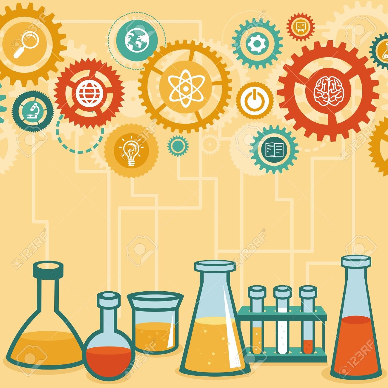 Vector concept - chemistry and science research - design elements for infographic in flat style Stock Vector - 21887615