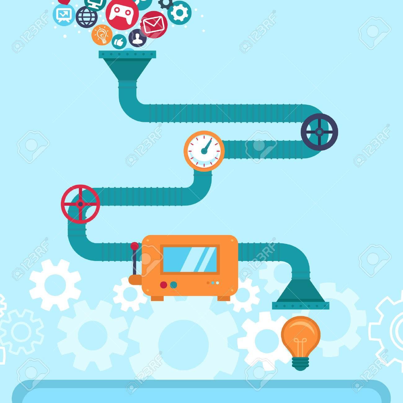 Vector abstract infographics in flat style -creative idea generatir - 33354881