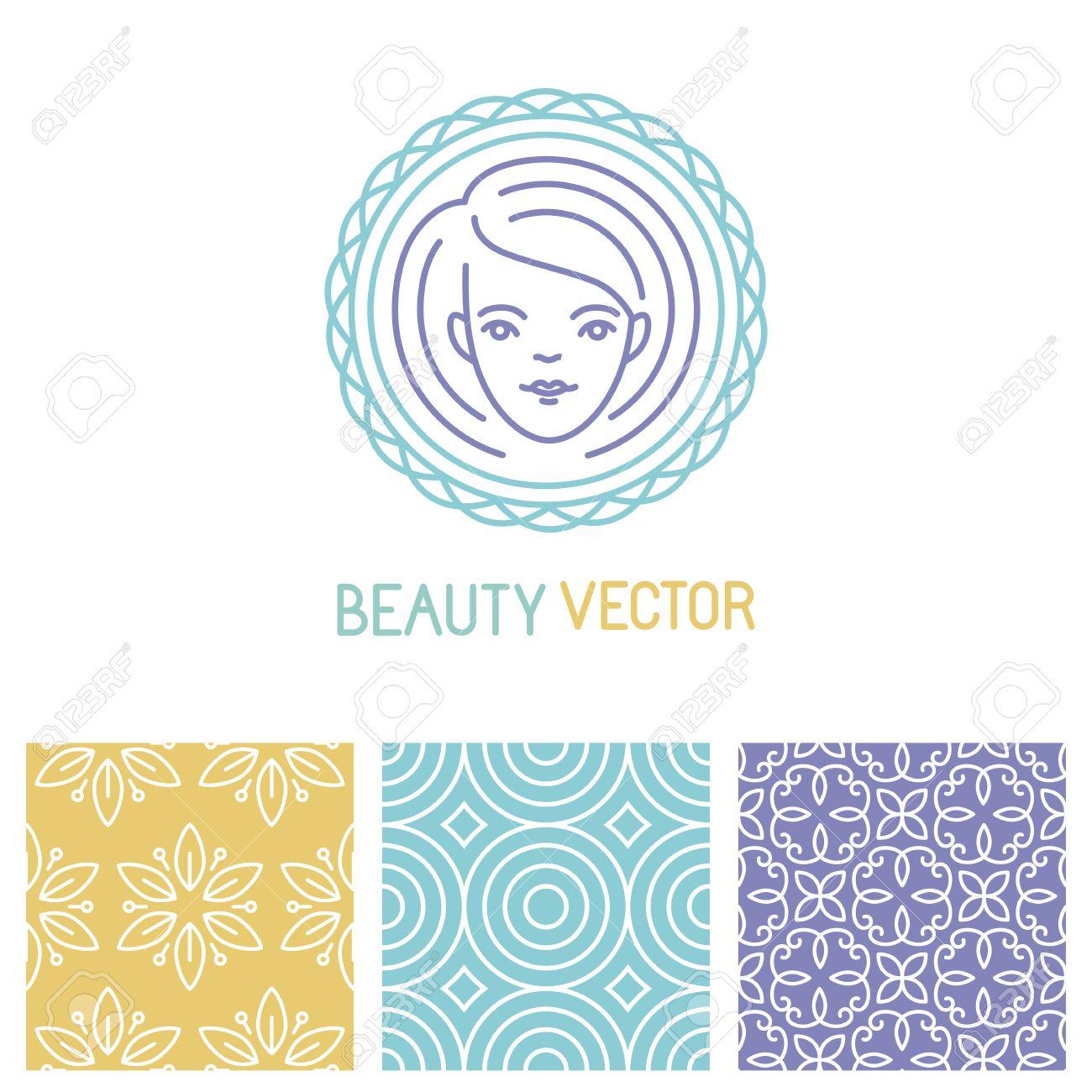 Vector Beauty Plantilla De Diseño De Logotipo En El Estilo Lineal De ...