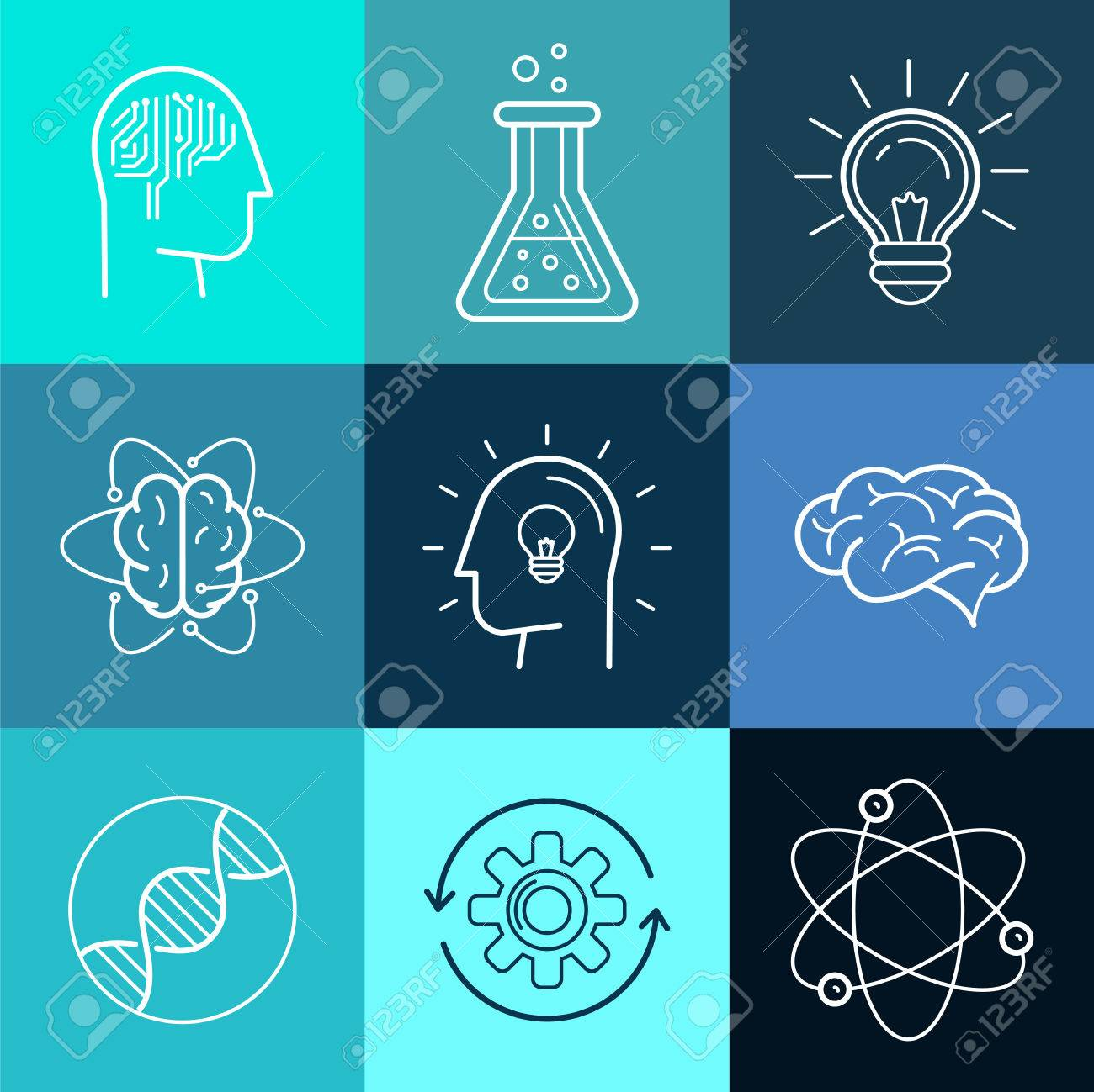 intelligence logo stock photos pictures royalty intelligence logo vector icons and signs in trendy linear style new technologies analytical