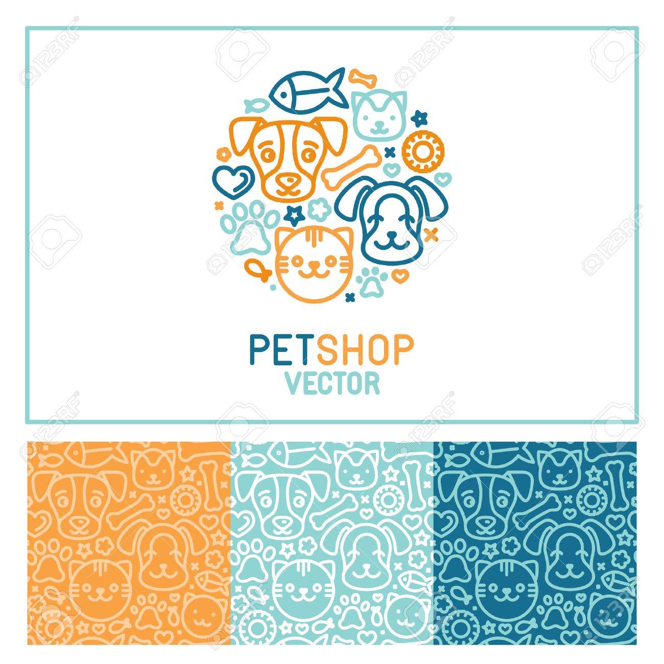 Logo Vector Plantilla De Diseño Para Tiendas De Animales, Clínicas ...