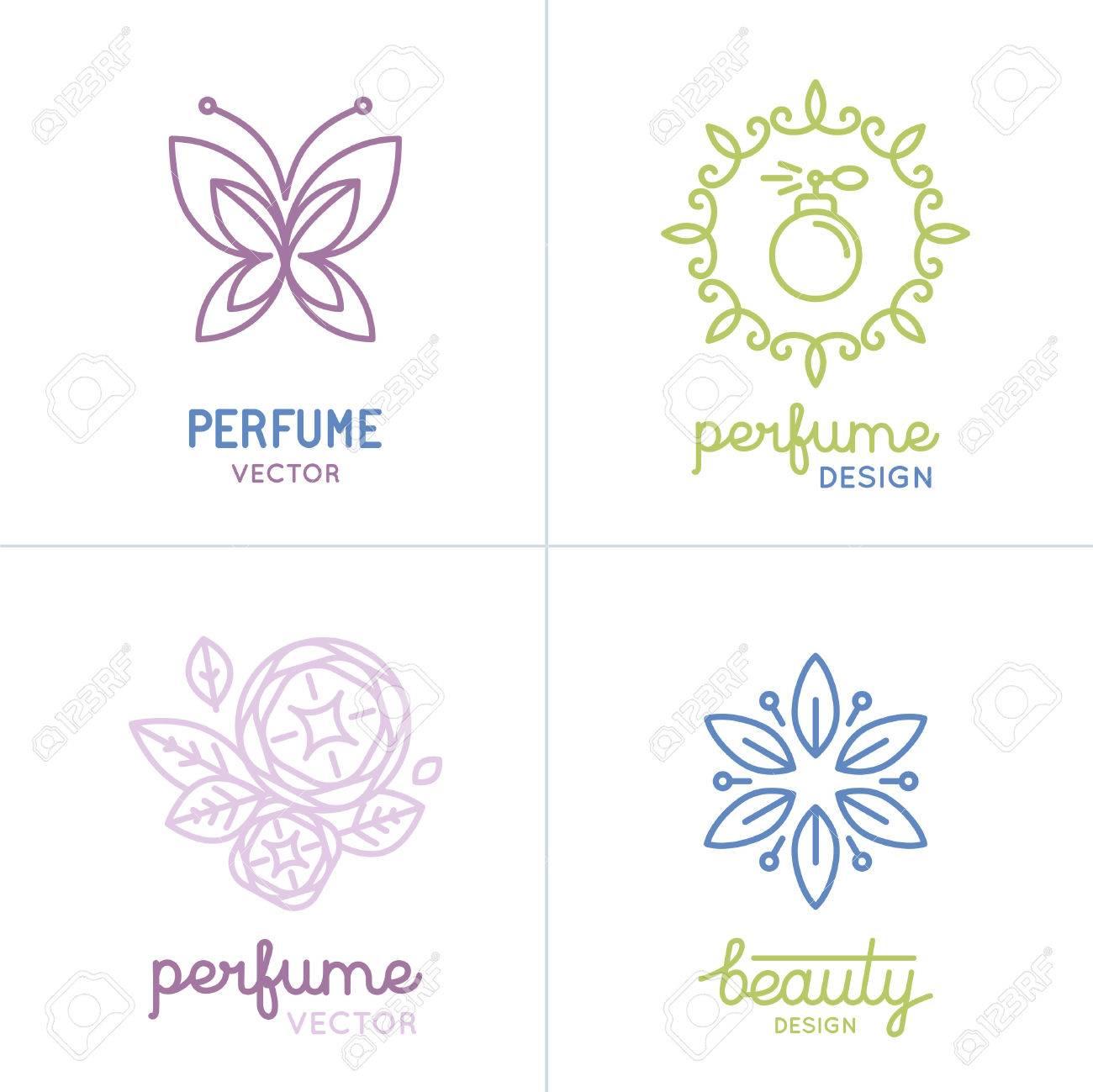 a60f0ce6826 Banque d images - Vector set de parfum et cosmétiques logo modèles de  conception et icônes - concepts naturels et biologiques