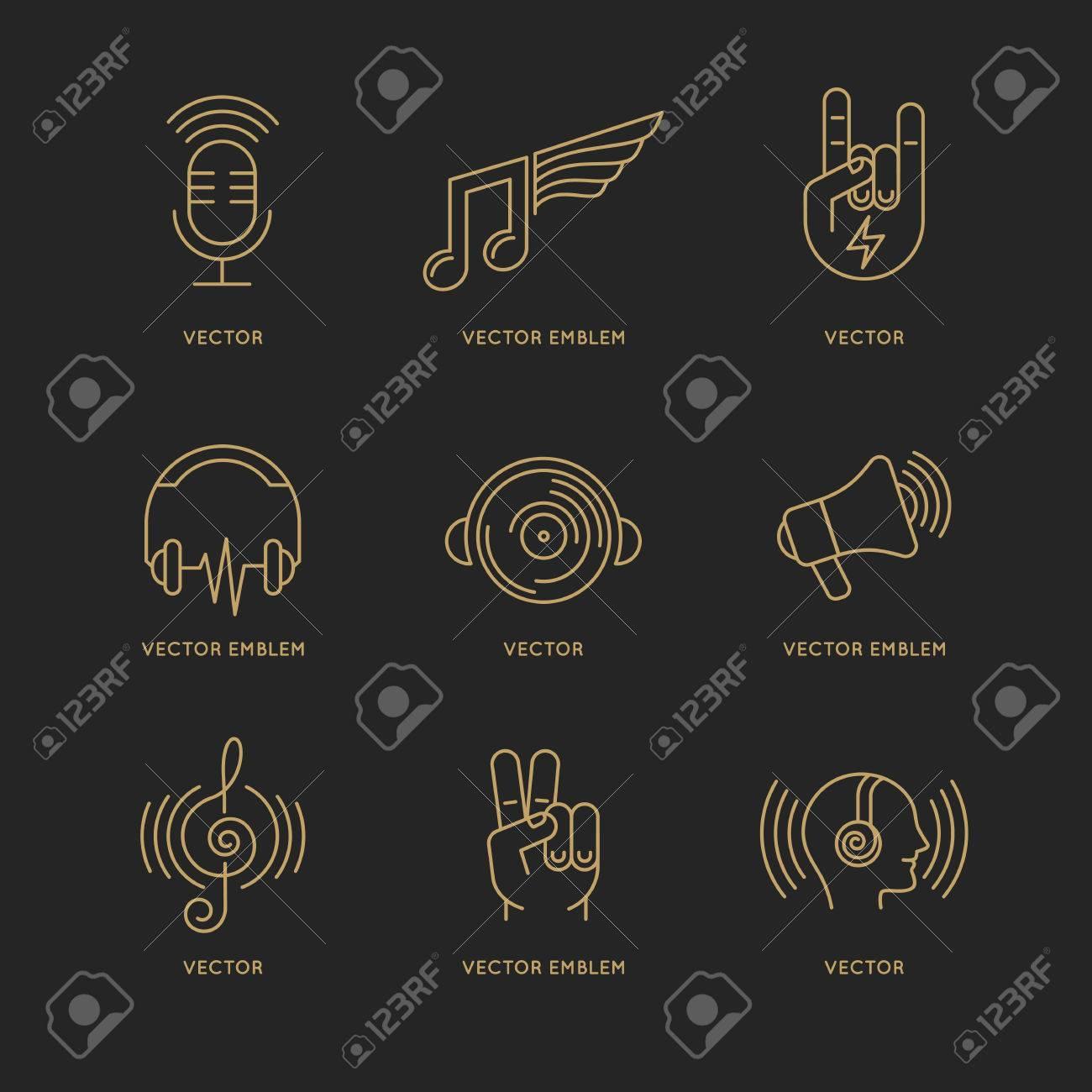 Vector Conjunto De Plantillas De Diseño De Logotipo Y Los Iconos En ...