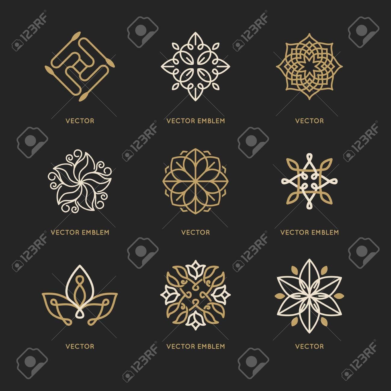 Vector Conjunto De Plantillas De Diseño De Logotipo Y Símbolos De ...