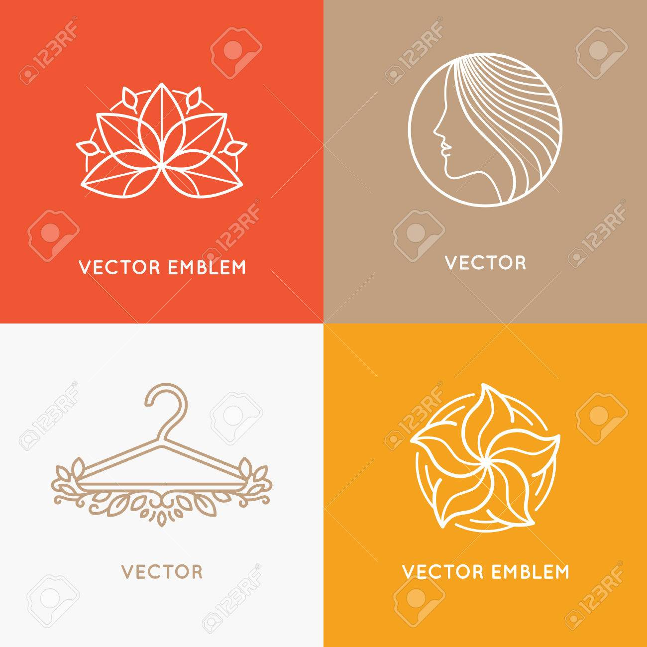 set of icon design templates and emblems fashion stylist and rh 123rf com Stylist Heart Vector Hair Stylist Vector