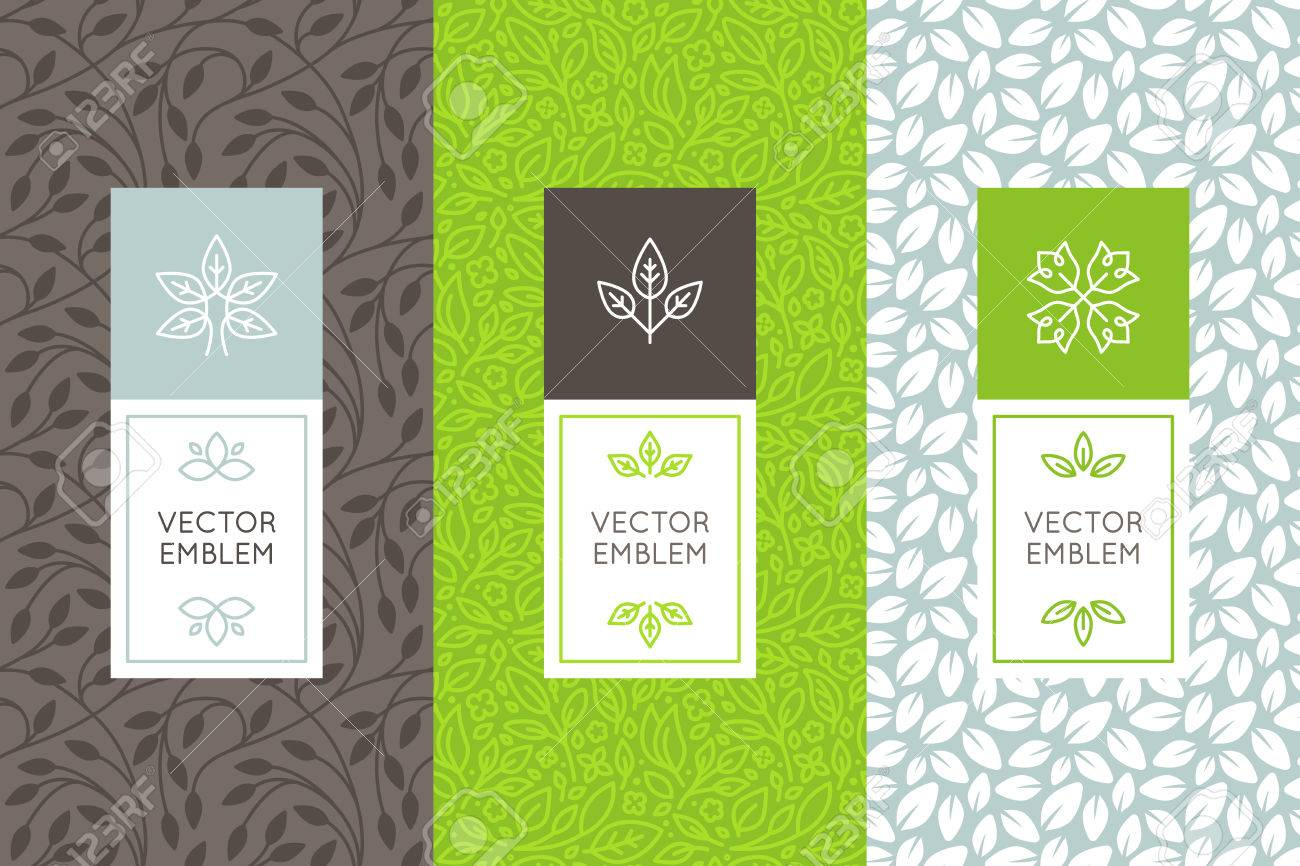 vector set of packaging design templates seamless patterns and