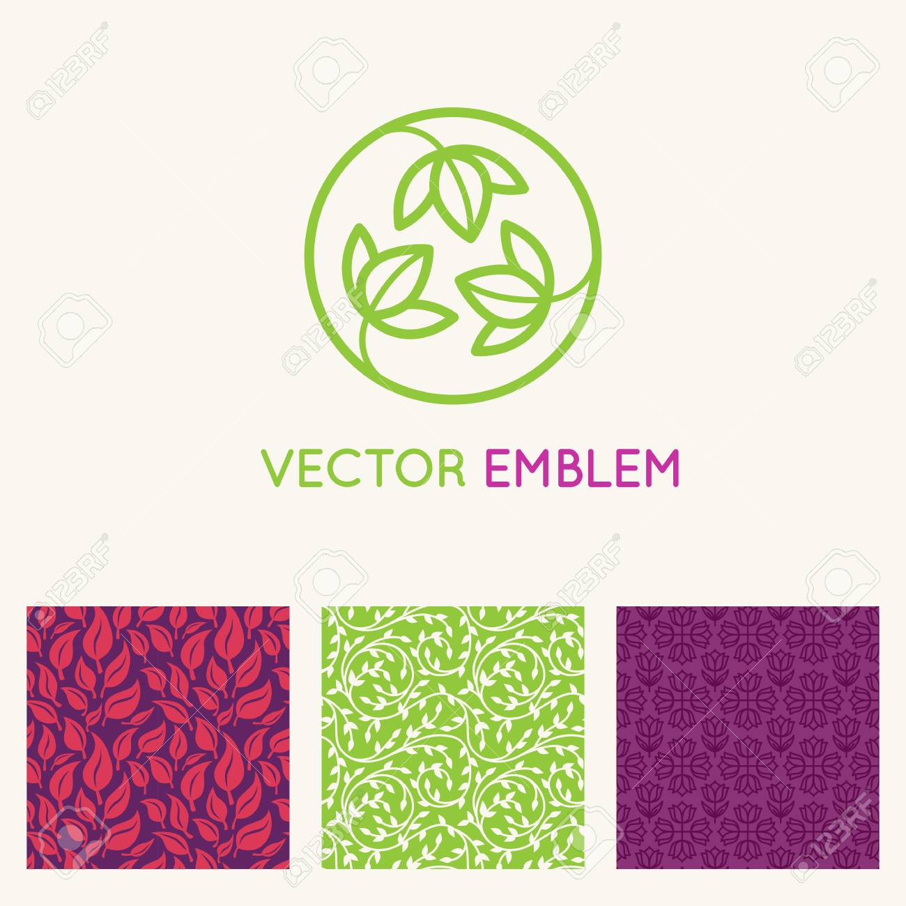 Vector Set Of Design Templates, Seamless Patterns And Backgrounds ...