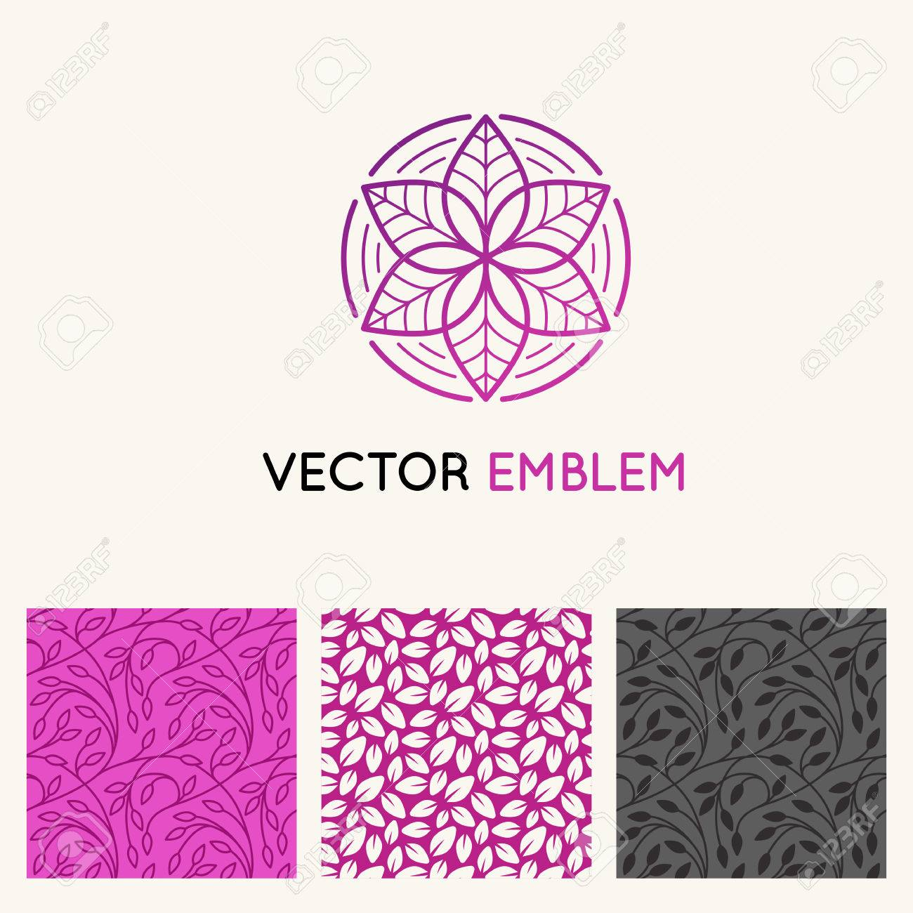 Vector conjunto de plantillas de diseño, patrones de costura y fondos para  la identidad, tarjetas de presentación y envasado - Tiendas de flores, ...