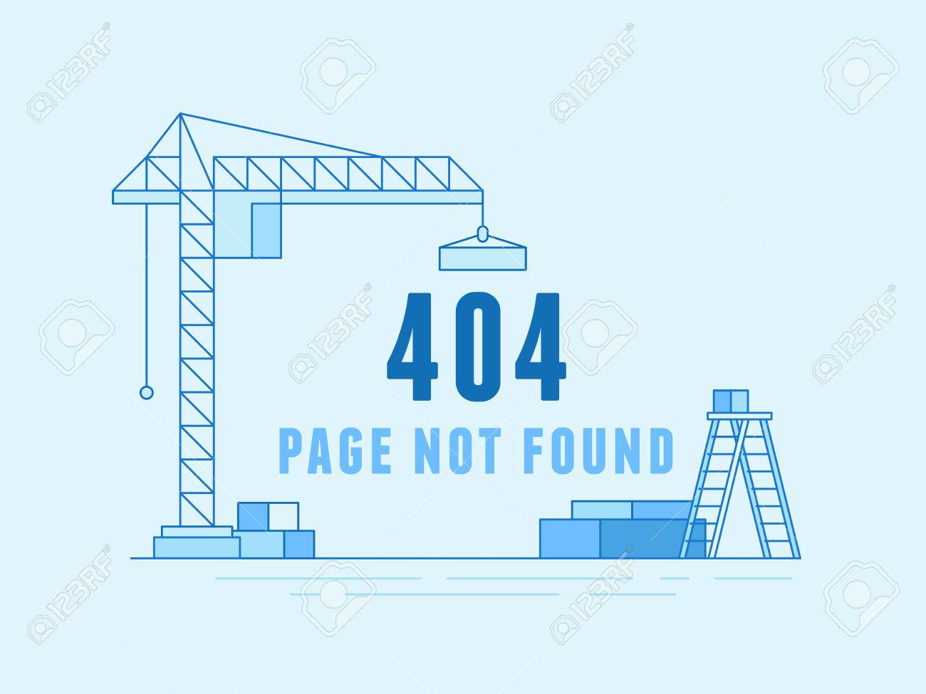 Vector Illustration In Trendy Line Flat Style - 404 Page Design ...
