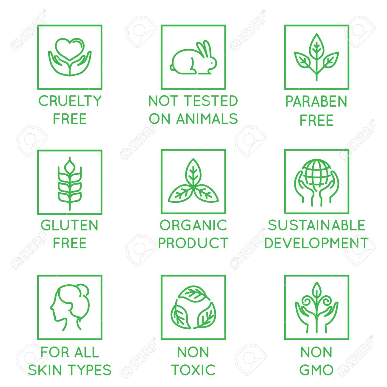 vector set of design elements logo design template icons and