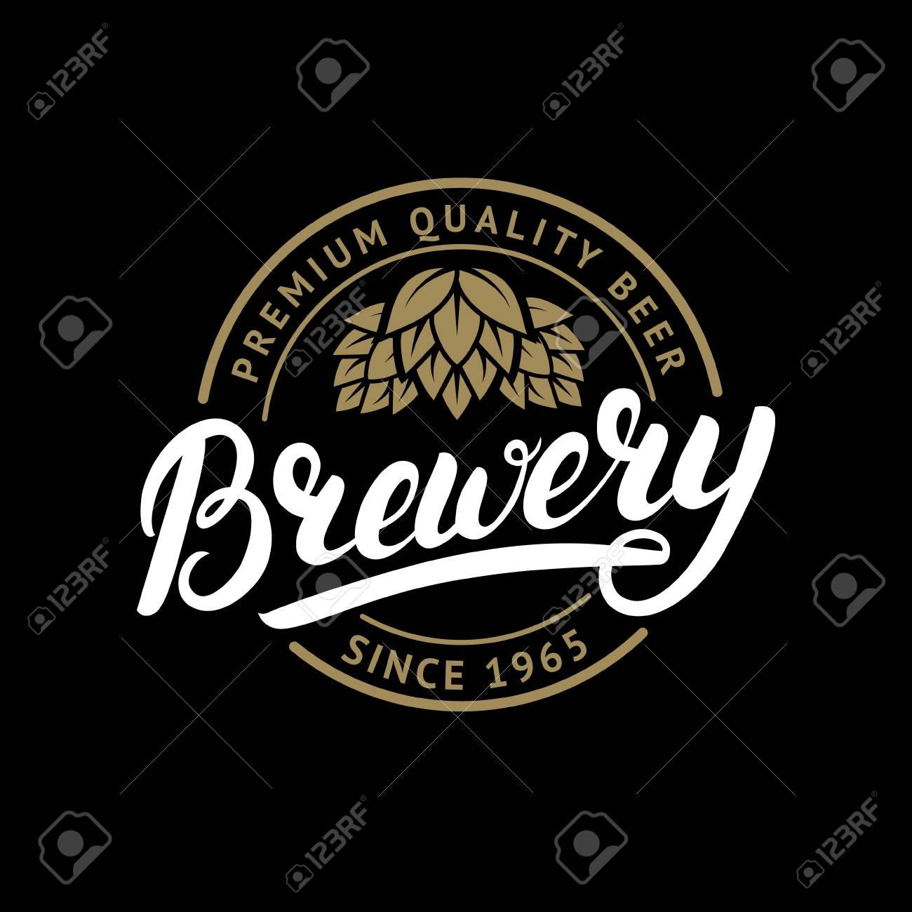 Brauerei Hand Geschrieben Schriftzug Logo, Label, Abzeichen Vorlage ...