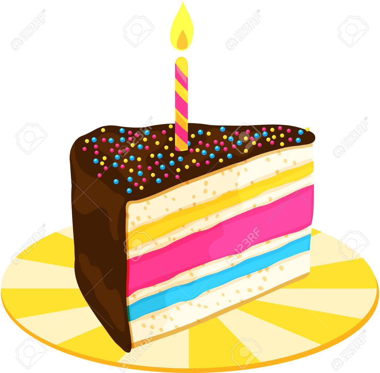 Outstanding Birthday Cake Slice Clip Art The Cake Boutique Personalised Birthday Cards Akebfashionlily Jamesorg