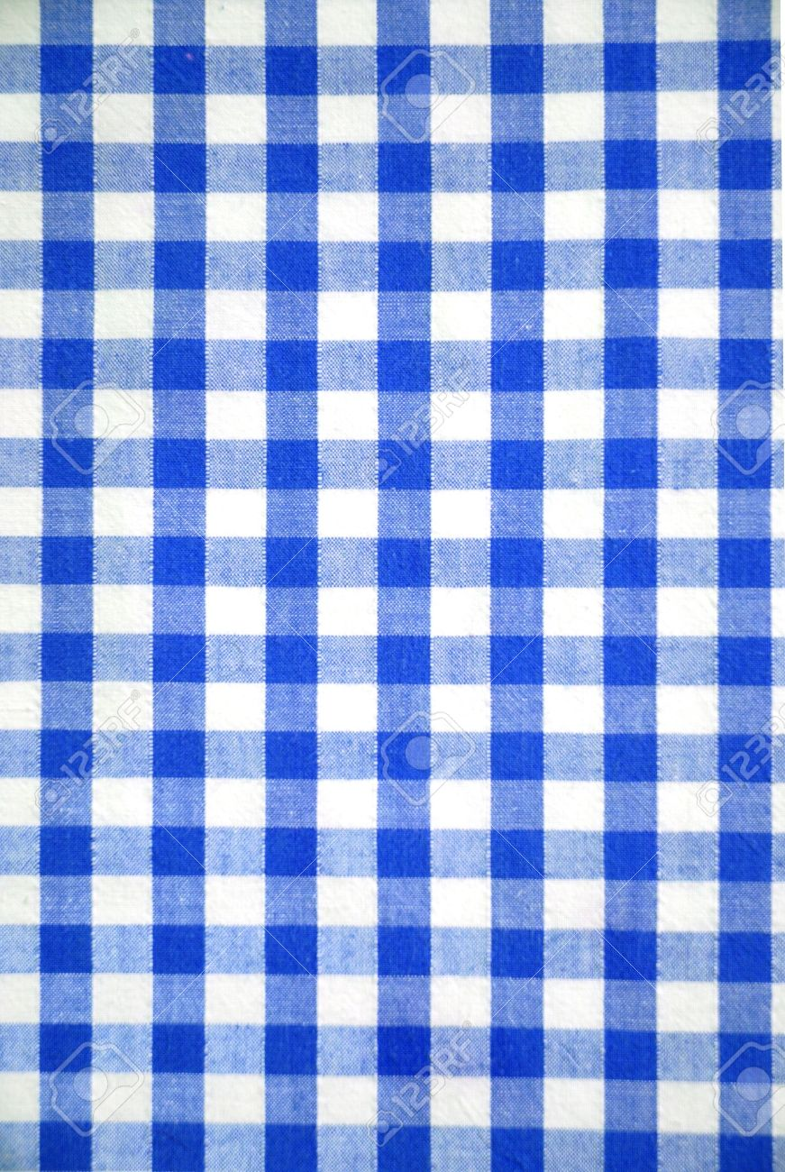 Blue tablecloth background - Blue And White Tablecloth Pattern Abstract Background Stock Photo 10098923
