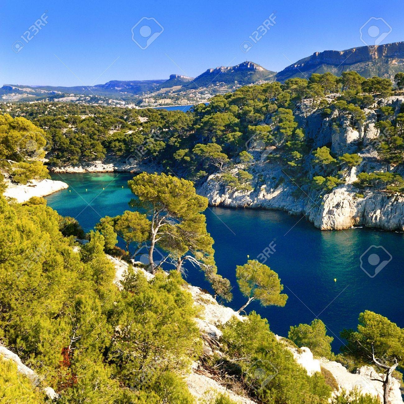 Calanques Of Port Pin In Cassis In France Near Marseille Stock