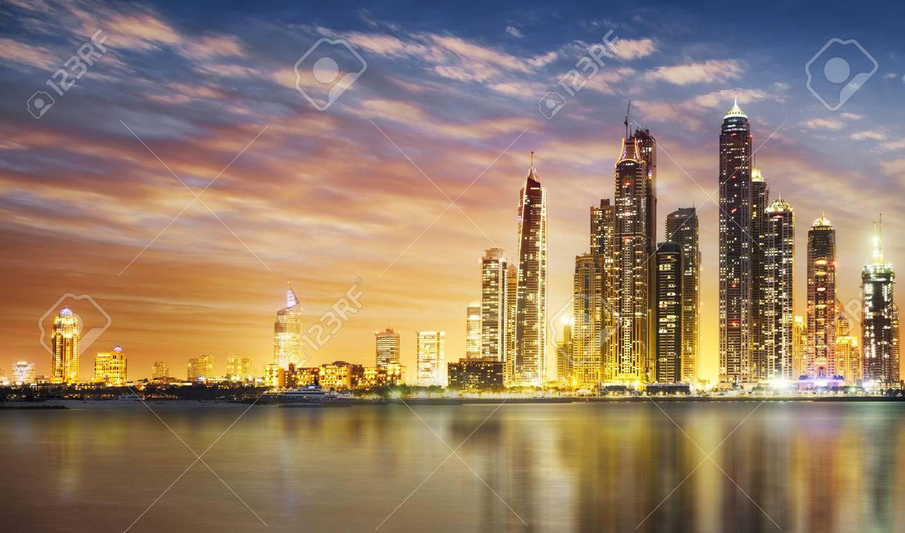 Dubai Marina skyline as seen from Palm Jumeirah - 44255554
