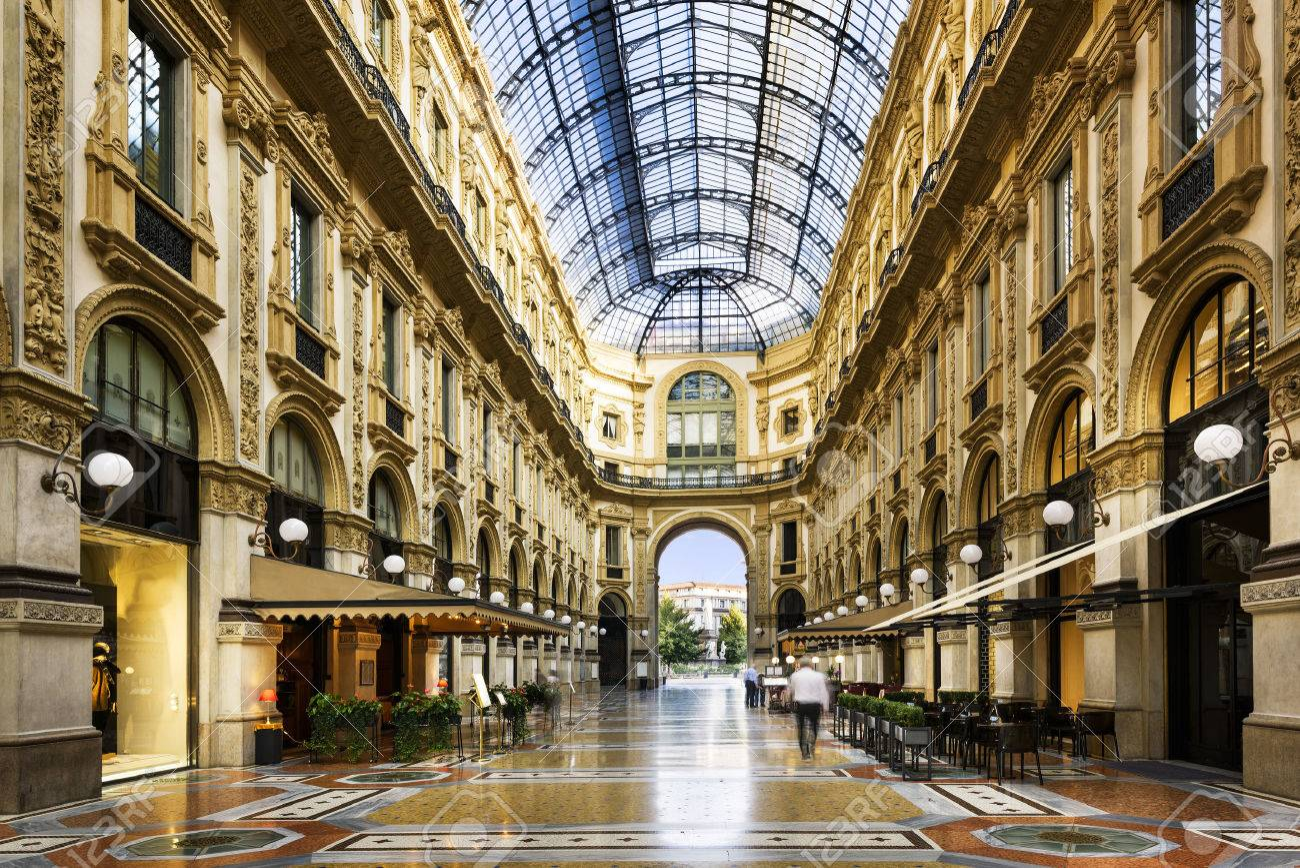 Glass dome of Galleria Vittorio Emanuele in Milan, Italy - 50621609