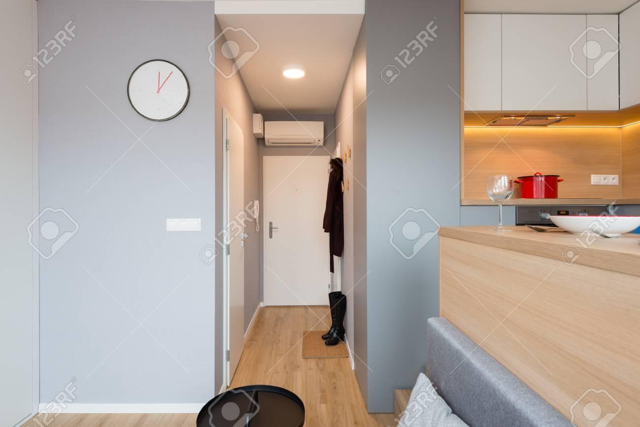 Bratislava Slovakia Dec 17 2018 Hallway Of Small Apartment