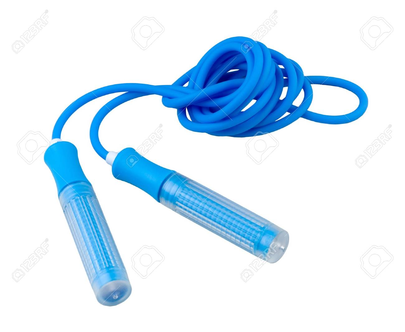 Begin your exercise with a jump rope easy and funny Stock Photo - 16742053