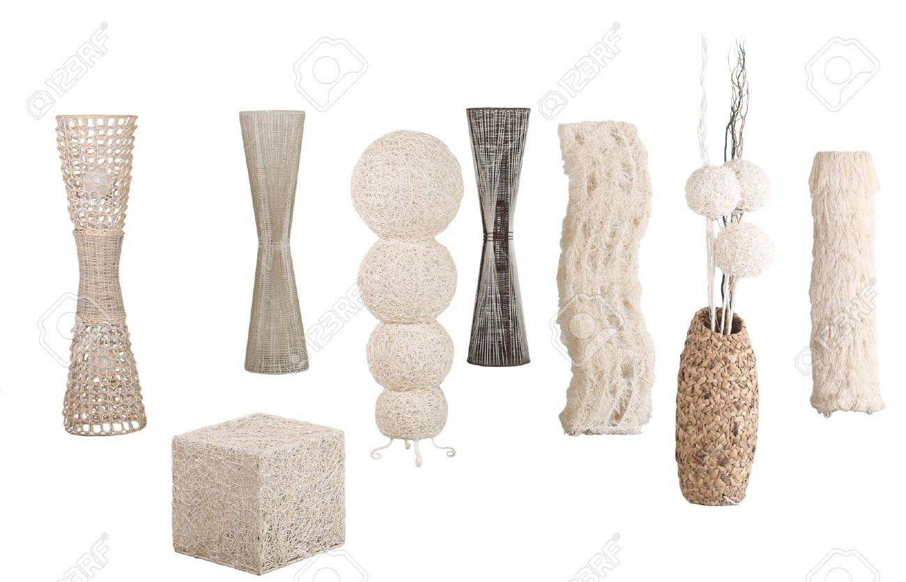 Modern design of rattan, bamboo and water hyacinth floor lamps Stock Photo - 16894361