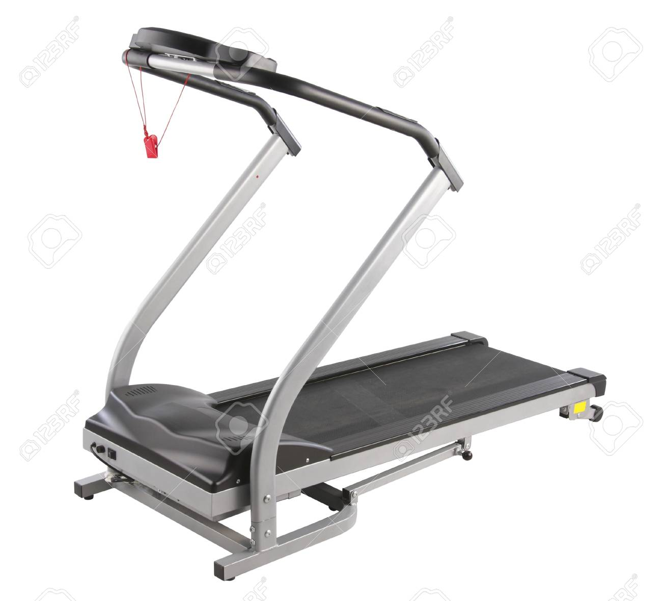 Let's exercise at home by the treadmill machine Stock Photo - 16918969
