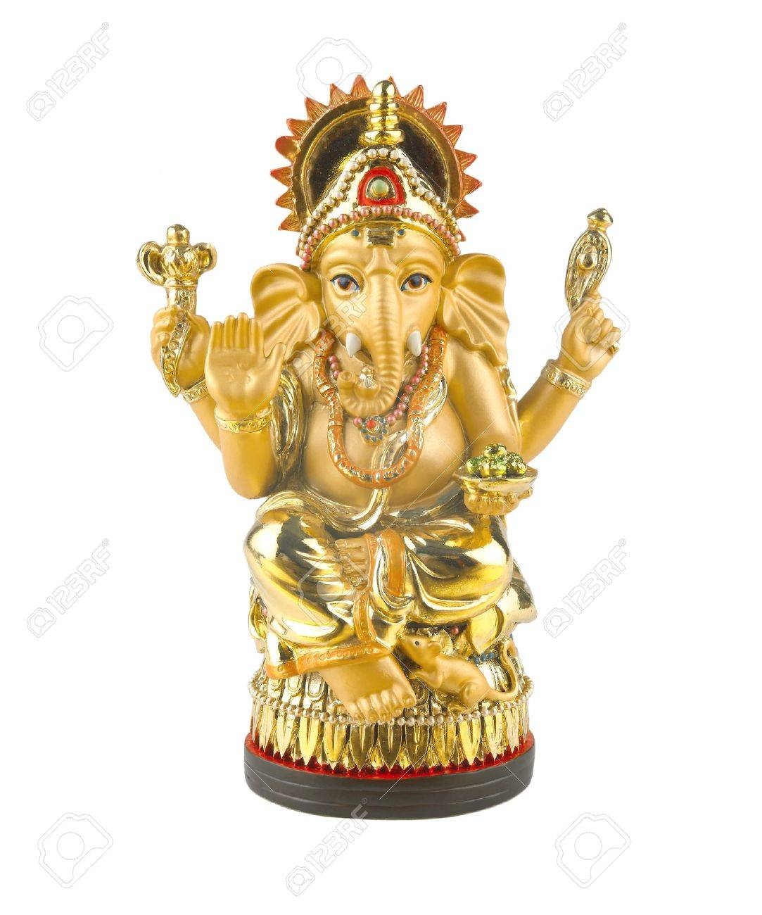 Golden hindu god ganesh Stock Photo - 18514830