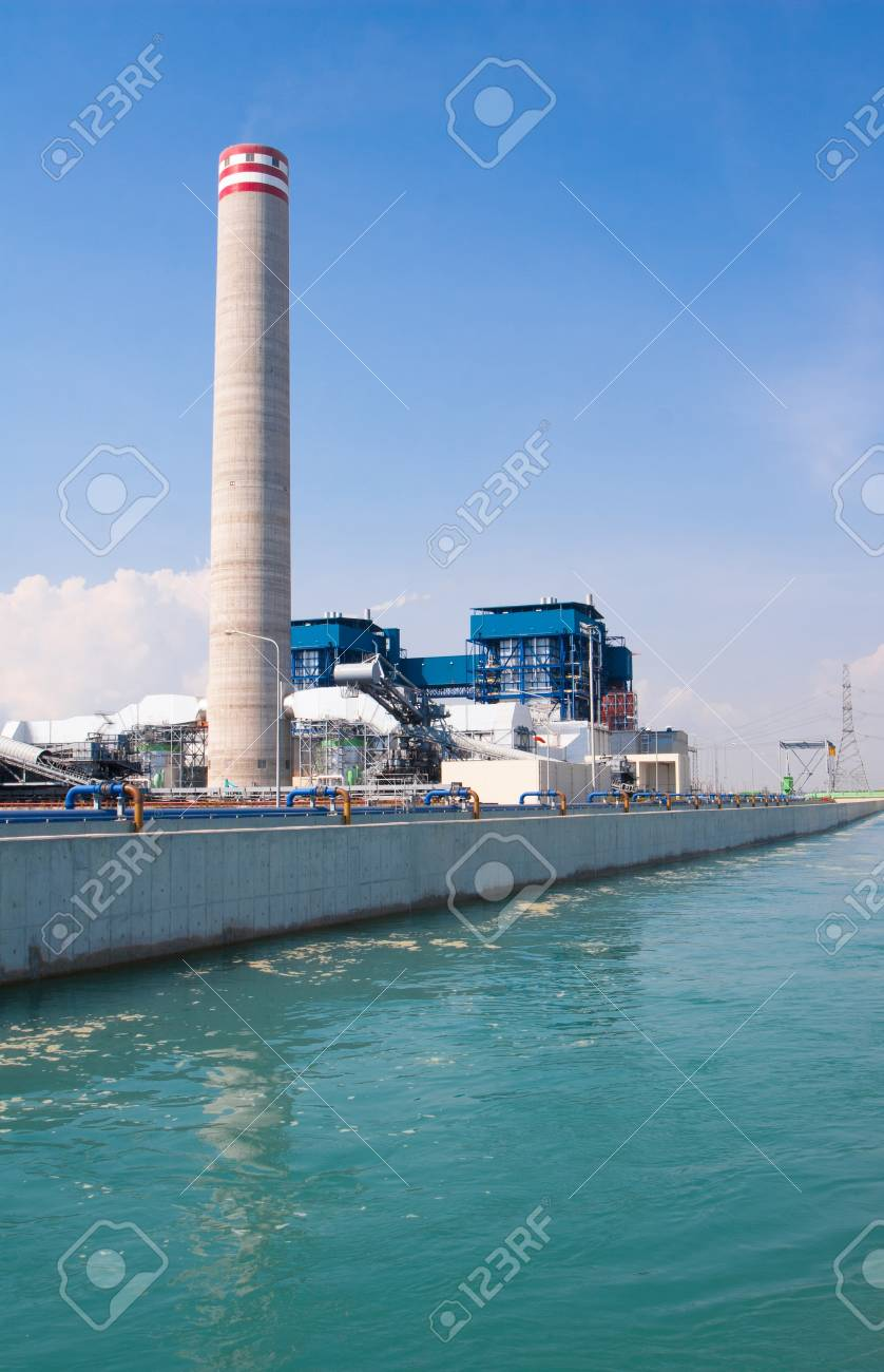 electric generator power plant three phase power electric generator power plant behind the canal of cooling water ventilation systems stock photo 20028080 generator power plant behind the canal of cooling water