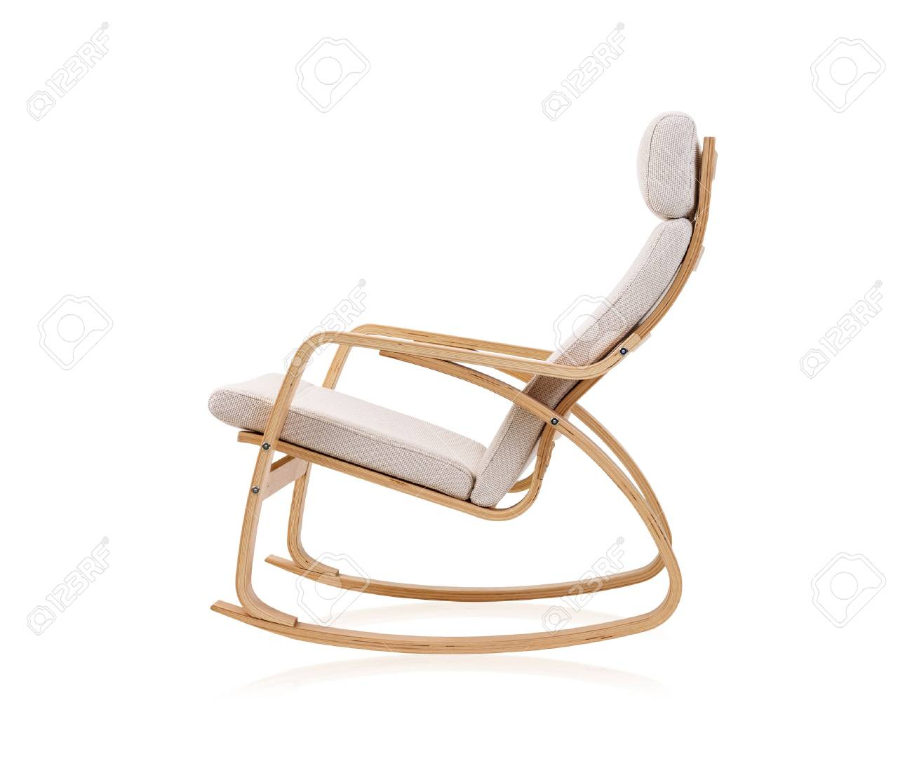 Peachy Modern Rocking Chair Isolated On White Background Bralicious Painted Fabric Chair Ideas Braliciousco