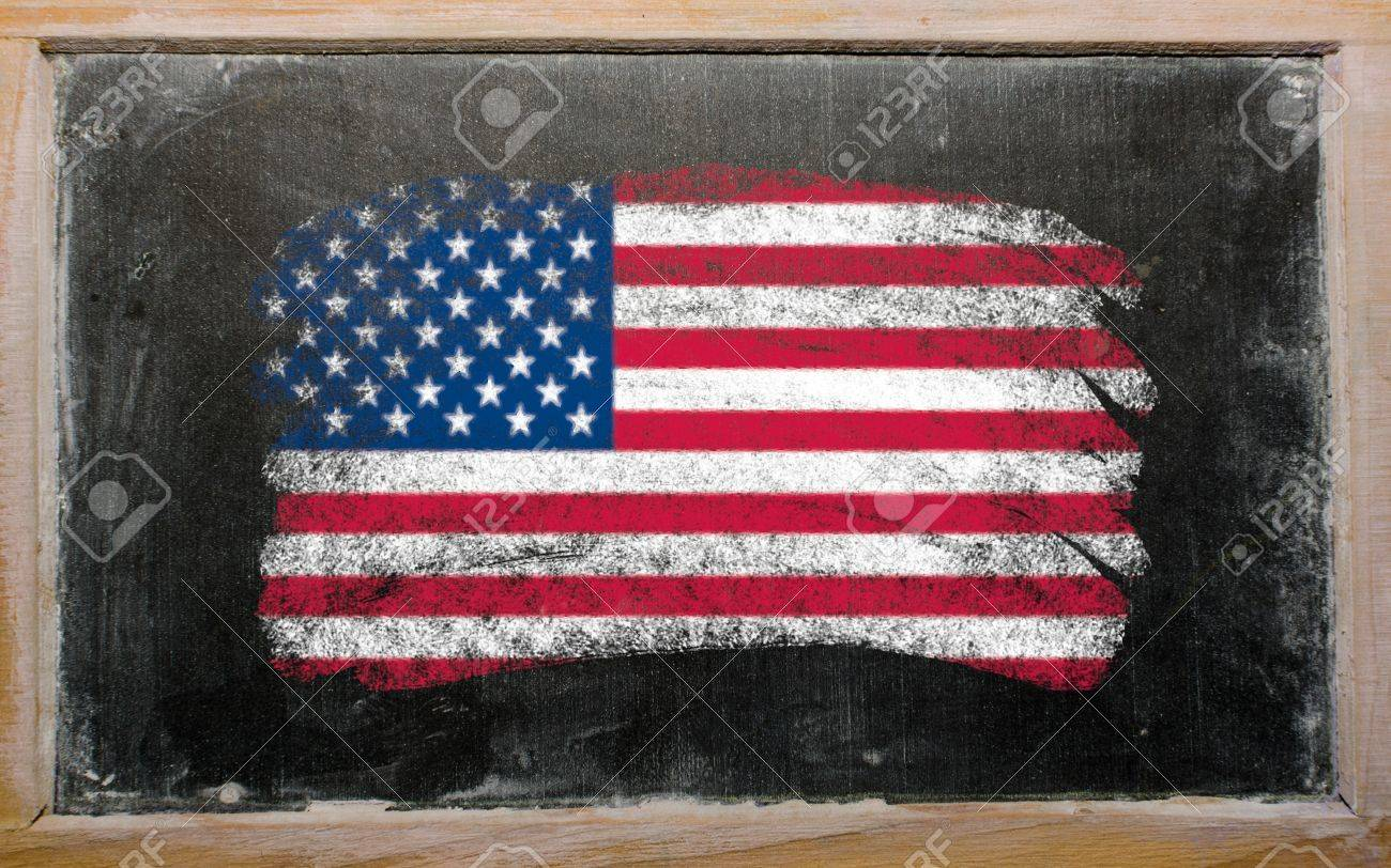 Chalky United States Of America Flag Painted With Color Chalk - How old is the united states of america