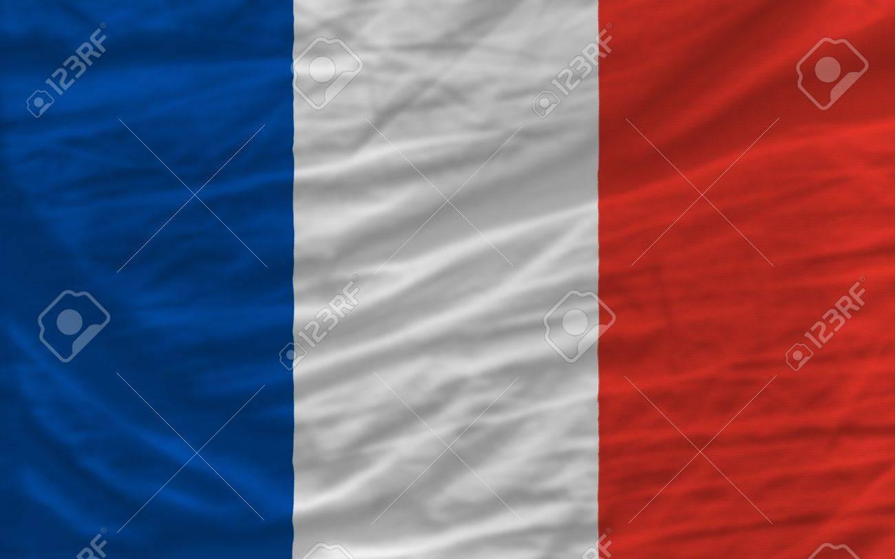 Vollständige Nationale Flag Of France Deckt Gesamte Rahmen, Winkte ...