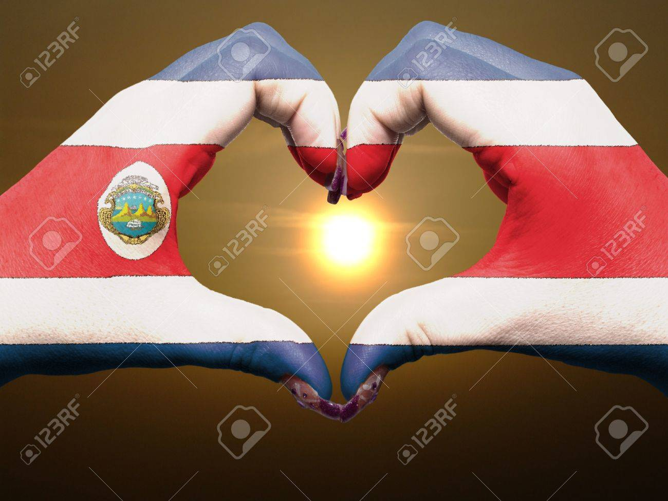 costa rican flag stock photos u0026 pictures royalty free costa rican