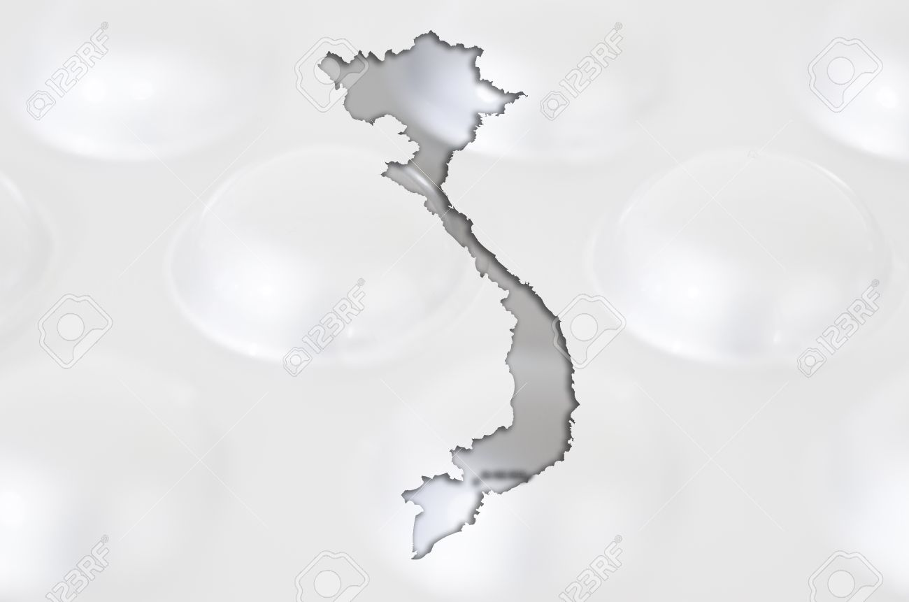 Outline Vietnam Map With Transparent Background Of Capsules - Vietnam map outline