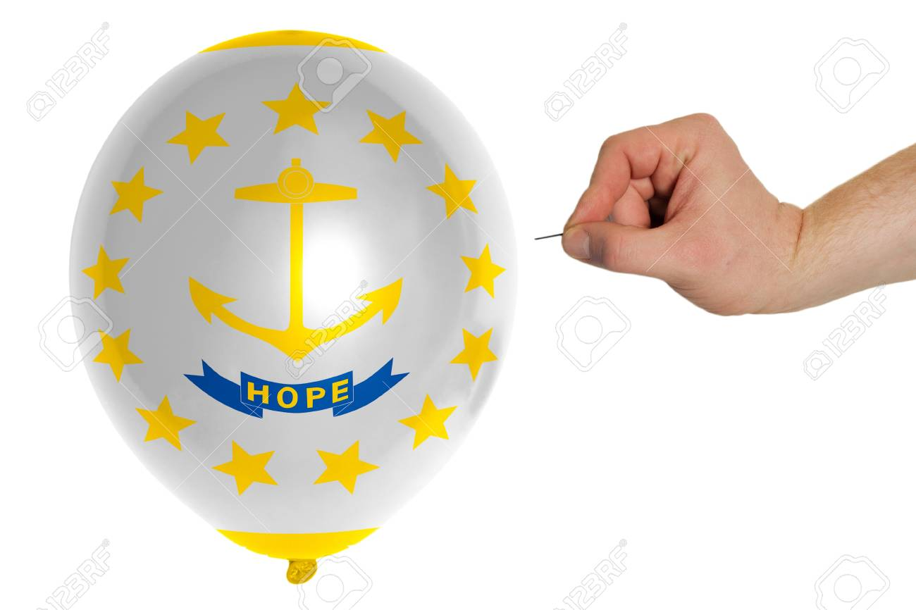 Exploding balloon colored in flag of us state of rhode island exploding balloon colored in flag of us state of rhode island stock photo 20566455 biocorpaavc Choice Image