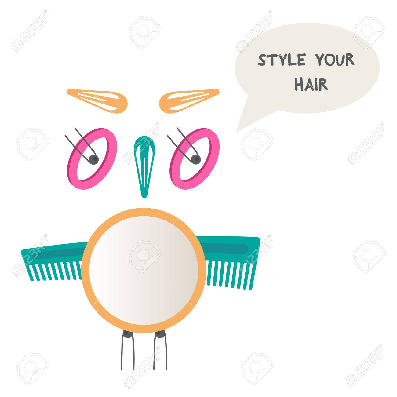 Owl made of hair accessories do yourself hairstyle mirror owl made of hair accessories do yourself hairstyle mirror hair pins hairbrush solutioingenieria Images