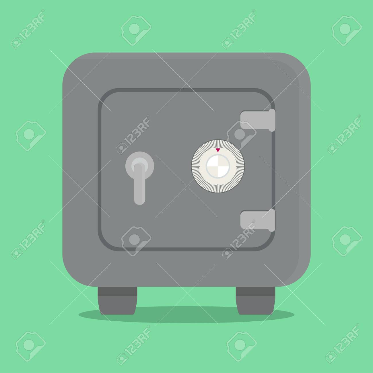 Metal Safe With Combination Lock Vector Illustrations Royalty Free Diagram Stock 69918863