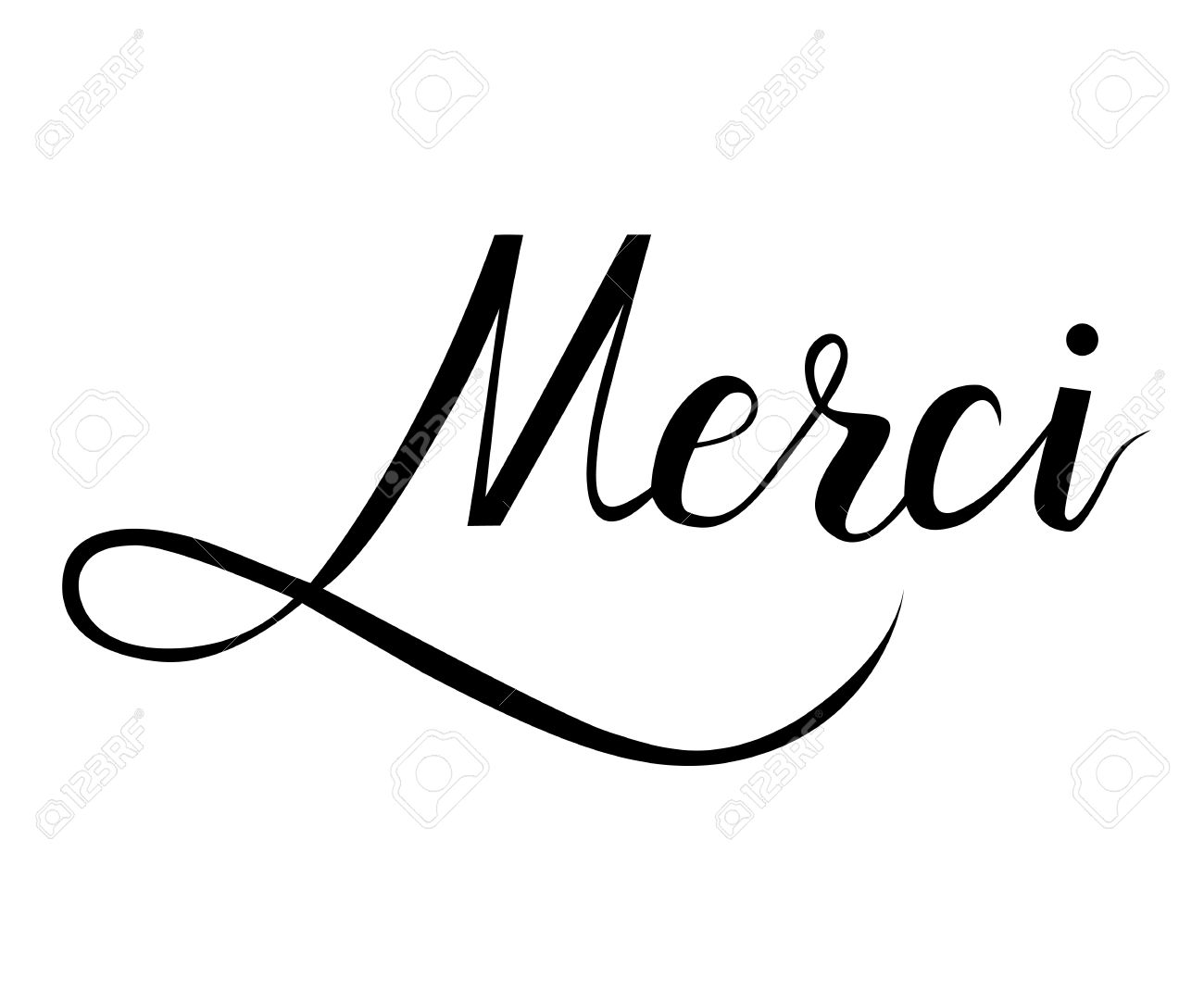 merci brush hand lettering on white background royalty fri clipart rh se 123rf com  merci clipart